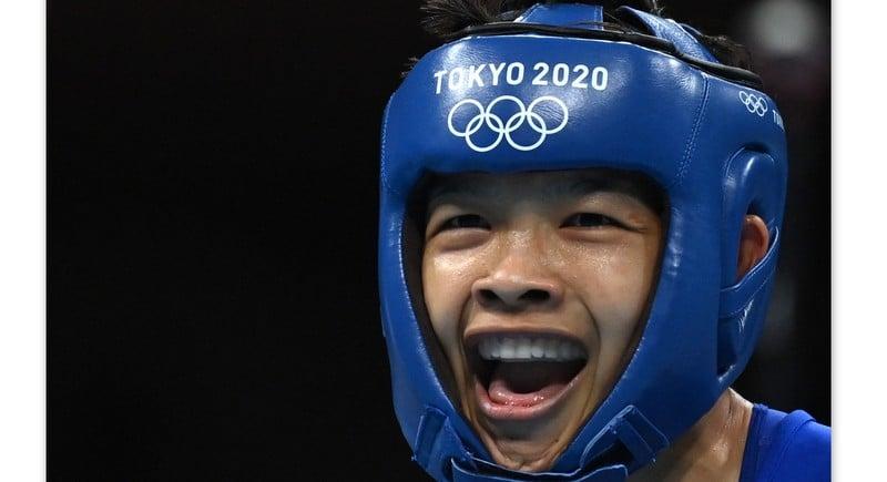 Thai boxer Jutamas punches her way into last 8