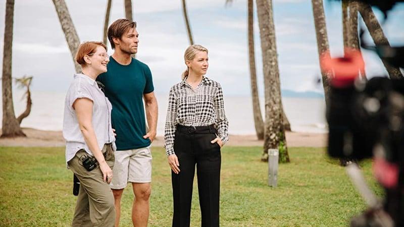 Liam McIntyre, Christine Luby and Saskia Hampele in This Little Love of Mine (2021). Image: IMDB