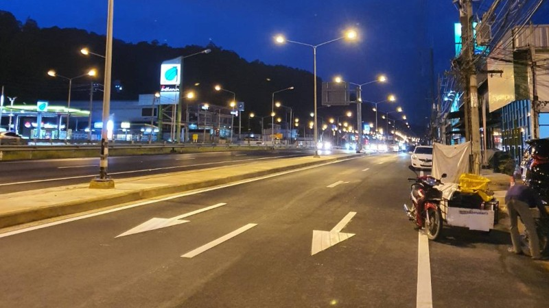 Some parts of the expansion are already complete. Photo: Phuket Highways Office