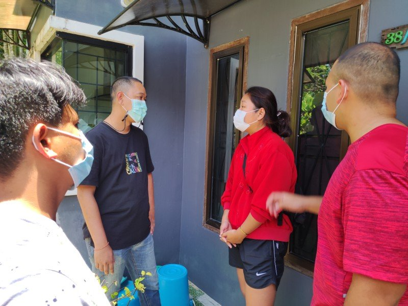 Immigration officers raided the house in Srisoonthorn on Tuesday (Sept 28). Photo: Phuket Immigration