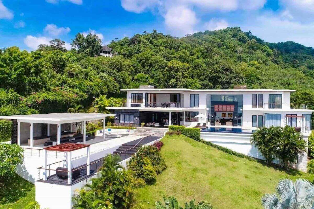 6 Bedroom Sea View Pool Villa on Large Plot of 4,800 sqm for Sale in Rawai, Phuket